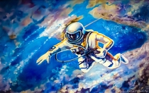 This self portrait of Alexey leonov the first man to walk in space