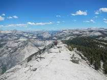 This shot always makes me want to get back on the trail Descent from Clouds Rest Yosemite National Park
