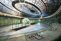 This spectacular art deco control room of the Kelenfld power station Budapest