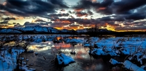 This stunning sunset made my frozen hands worth it Like all my photos its edited but colors are totally untouched Taken at Upper Truckee Marsh in South Lake Tahoe