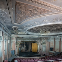 This theaters glory days are long gone now it sits collecting dust doubling as a storage unit for neighboring businesses