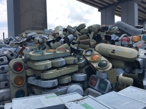 This traffic signal graveyard in Nagoya Japan - By DenshaKosuke