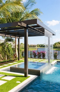 This trellis installation is in Palm Beach Florida