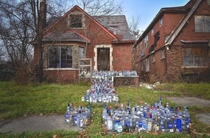 This unique display in Detroit is a memorial for the uncles of a gentleman who lives across the street more info in comments
