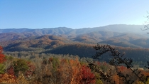 This was my view of the Great Smoky Mountains over the weekend