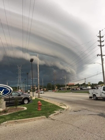 This was the sky today in Central Illinois