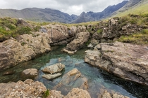 This water is blue all by itself Fairy Pools Isle of Skye