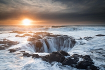Thors Well at high tide - Cape Perpetua OR