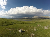 Those clouds were a lot stormier than they look trust me Shoshone National Forest Wyoming