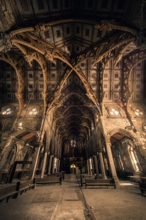 Those hammerbeams An abandoned cathedral in the NE USA