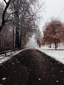 though we had a long winter im still missing indy snowstorms this was the park by my house this past november
