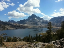 Thousand Island Lake and Banner Peak seen from the John Muir Trail CA