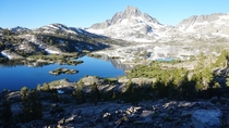 Thousand Island Lake near the town of Mammoth Lakes California elevation   hours hike from the Silver Lake