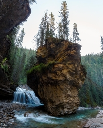 Thousands unknowingly walk past this view in Johnston Canyon Banff Alberta Canada