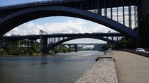 Three arch bridges over the Harlem River New York City