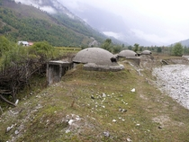 Three of the  bunkers built in Albania during the cold war Article in comments