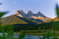 Three sisters at sunrise Canmore AB