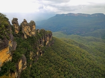 Three Sisters from the Echo Point Lookout  Blue Mountains National Park New South Wales Australia