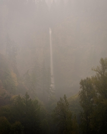 Through The Smoke Here is a photo I shot of a smoky Multnomah Falls in the Columbia River Gorge Oregon one afternoon last week  Instagram  john_perhach_