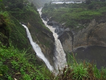 Thundering Jungle Waterfall San Rafael Falls Ecuador