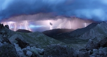 Thunderstorm from Mt Evans Colorado