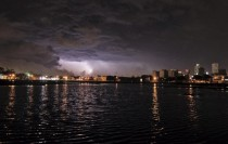 Thunderstorm in New Orleans
