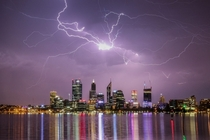 Thunderstorm in Perth Western Australia