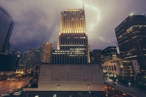 Thunderstorm over NBC Tower Chicago