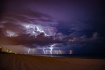 Thunderstorm over Pensacola Beach last week