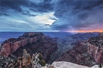 Thunderstorm over the Grand Canyon  by Nicholas Roemmelt