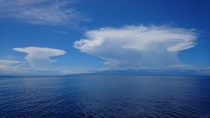 Thunderstorms brewing over Jomard Island PNG
