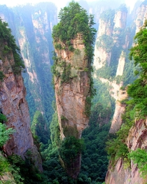 Tianzi Mountains China  by Richard Janecki