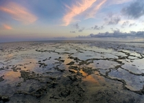 Tidal Pools at sunset in Mombasa Kenya
