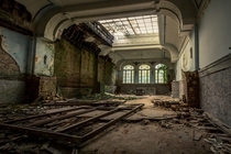 till then my windows ache  ballroom abandoned hotel  belgium
