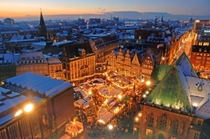 Tilt Shift of a Christmas Market in Bremen Germany