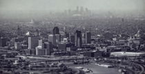 Tilt Shifted St Paul and Minneapolis Minnesota