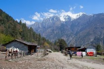 Timang village in Manang Nepal