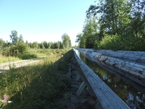 Timber flume in Gvle Sweden