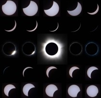 Time lapse of solar eclipse taken from South Pacific