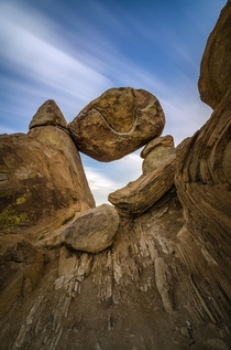 Time Passes Slowly at Balanced Rock - Big Bend National Park
