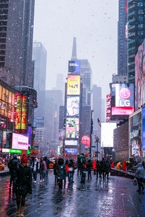 Time square in December Hopefully Im available to shoot this again this year so I can make it even better or worse lol