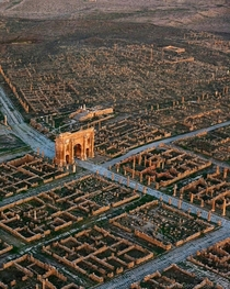 Timgad an ancient Roman city in North Africa located on the territory of modern Algeria