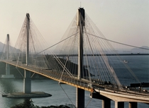 Ting Kau bridge km-long Hong Kong is one of the worlds most important cable-stayed bridges