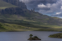 Tiny Island in The Isle of Skye Scotland