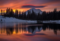 Tipsoo Lake Northern Cascade Range Washington State USA