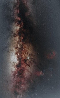 Tis the milkyway and so more Milky Way images Image is a stack from two nights May  amp  for a total of  hours of data Im taken from my observatory Al Sadeem Observatory in Abu Dhabi United Arab Emirates