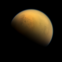 Titan as seen by the probe Cassini in October th