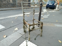 Titanic chair  Recovered from canal Saint Martin Paris