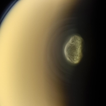 Titans south polar vortex as seen by Cassini in June