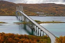 Tjeldsund Bridge in Norway